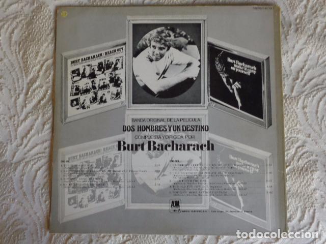 Discos de vinilo: Dos hombres y un destino - Burt Bacharach - AM Records 1970 - Foto 2 - 96571899