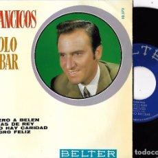Discos de vinilo: MANOLO ESCOBAR: VILLANCICOS: ARRIERO A BELÉN / PALMAS DE REY / YA NO HAY CARIDAD / MILAGRO FELIZ. Lote 68594433