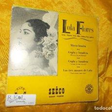 Discos de vinilo: LOLA FLORES. MARIA BONITA + 3. EP. SEECO. Lote 68597677
