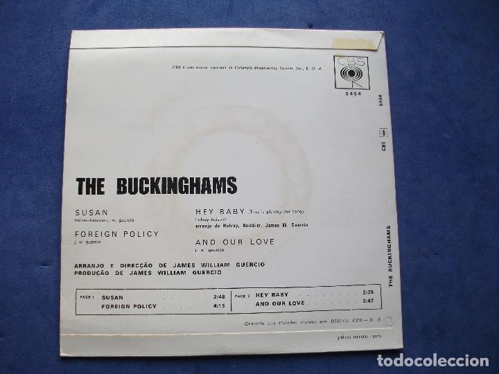 Discos de vinilo: THE BUCKINGHAMS - !!!!ULTIMA OPORTUNIDAD!!!!!!! SUSAN + 3 EP POTRUGUES 1968 PDELUXE - Foto 2 - 68605161