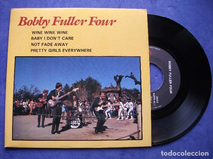BOBBY FULLER FOUR WINE WINE WINE + 3 EP FRANCIA PDELUXE (Música - Discos de Vinilo - EPs - Pop - Rock Internacional de los 70)