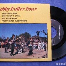 Discos de vinilo: BOBBY FULLER FOUR WINE WINE WINE + 3 EP FRANCIA PDELUXE. Lote 68605989