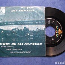 Discos de vinilo: ERIC BURDON & THE ANIMALS NOCHES DE SAN FRANCISCO EP MEJICO 1967 PDELUXE. Lote 68607437