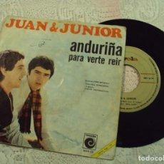 Discos de vinilo: DISCO DE VINILO, CON CANCIONES DE LOS MEJORES AÑOS DE JUAN Y JUNIOR. Lote 68619053