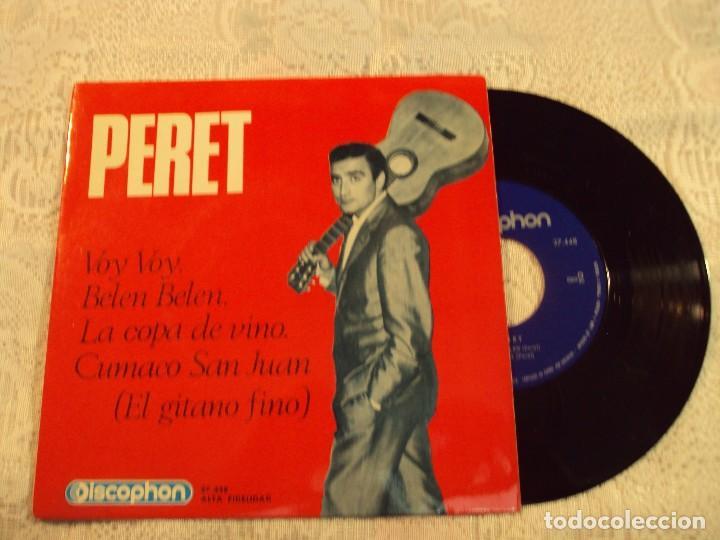 DISCO DE VINILO, CON CANCIONES DE LOS MEJORES AÑOS DE PERET (Música - Discos - Singles Vinilo - Solistas Españoles de los 50 y 60)