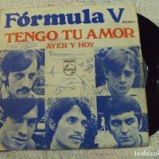 Discos de vinilo: DISCO DE FORMULA V, CON LA CARÁTULA FIRMADA POR TODOS LOS COMPONENTES. Lote 68637821