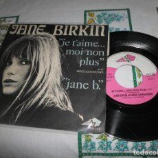 Discos de vinilo: JANE BIRKIN JE T'AIME. Lote 68646925