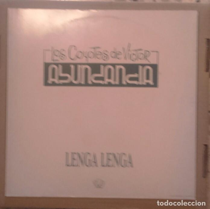 LOS COYOTES DE VICTOR ABUNDANCIA MAXI 1991 LENGA LENGA (Música - Discos - Singles Vinilo - Grupos Españoles de los 90 a la actualidad)