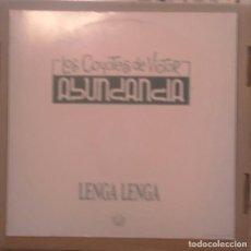 Discos de vinilo: LOS COYOTES DE VICTOR ABUNDANCIA MAXI 1991 LENGA LENGA . Lote 68652289