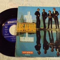Discos de vinilo: DISCO DE VINILO DE LOS ALBAS, EN EL VAGABUNDO Y LA PUERTA VERDE. Lote 68652729