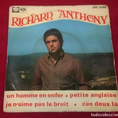 Discos de vinilo: RICHARD ANTHONY - UN HOMME EN ENFER .... Lote 68670053