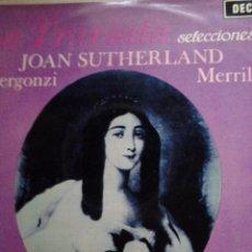 Discos de vinilo: LA TRAVIATA SELECCIONES JOAN SUTHERLAND BERGONZI MERRILL DECCA. Lote 68678317