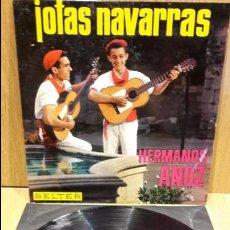 Discos de vinilo: HERMANOS ANOZ. JOTAS NAVARRAS. LP / BELTER - 1966 / MBC. ***/***. Lote 68687469