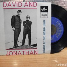 Discos de vinilo: DAVID & JONATHAN LOVERS OF THE WORLD UNITE+3 EP PORTUGAL PDELUXE. Lote 68691897