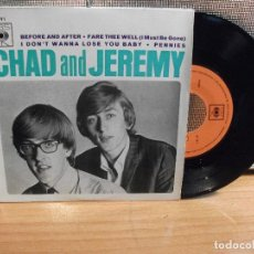 Discos de vinilo: CHAD & JEREMY BEFORE AND AFTER EP PORTUGAL PDELUXE. Lote 68693069