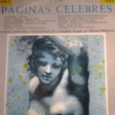 Discos de vinilo: PAGINAS CELEBRES. Lote 68718361