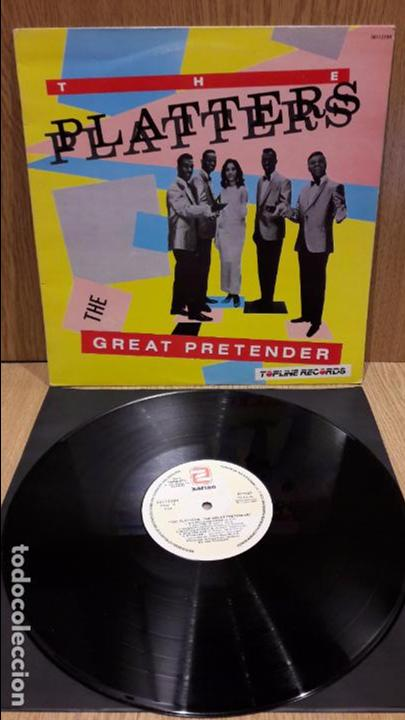 THE PLATTERS. THE GREAT PRETENDER. LP / ZAFIRO - 1988 / MBC. ***/*** (Música - Discos - LP Vinilo - Funk, Soul y Black Music)