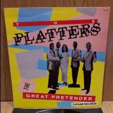 Discos de vinilo: THE PLATTERS. THE GREAT PRETENDER. LP / ZAFIRO - 1988 / MBC. ***/***. Lote 68720889