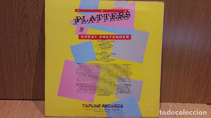 Discos de vinilo: THE PLATTERS. THE GREAT PRETENDER. LP / ZAFIRO - 1988 / MBC. ***/*** - Foto 2 - 68720889