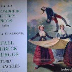 Discos de vinilo: FALLA EL SOMBRERO DE TRES PICOS BALLET ORQUESTA FILARMONIA. Lote 68724157