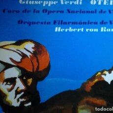 Discos de vinilo: GIUSEPPE VERDI OTELLO CORO DE LA OPERA NACIONAL DE VIENA DECCA. Lote 68724873