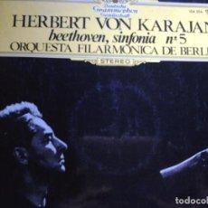 Discos de vinilo: HERBERT VON KARAJAN BEETHOVEN SINFONIA N 5. Lote 68725865