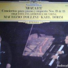 Discos de vinilo: MOZART CONCIERTOS PARA PIANO Y ORQUESTANOS 19 & 23. Lote 68727481
