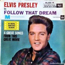 Discos de vinilo: ELVIS PRESLEY - FOLLOW THAT DREAM (RCA) (EP) (FRANCE) 1962. Lote 68731861
