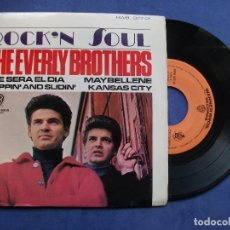 Discos de vinilo: THE EVERLY BROTHERS MAYBELLENE,KANSAS CITY + 2 EP SPAIN 1965 PDELUXE. Lote 68733257