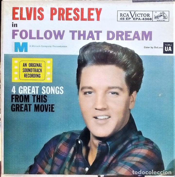 ELVIS PRESLEY - FOLLOW THAT DREAM (RCA) (EP) (USA) 1962 (Música - Discos de Vinilo - EPs - Bandas Sonoras y Actores)