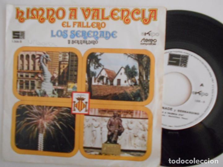 LOS SERENADE Y BERNARDINO-SINGLE HIMNO A VALENCIA-1972 (Música - Discos - Singles Vinilo - Grupos Españoles 50 y 60)