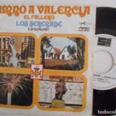 Discos de vinilo: LOS SERENADE Y BERNARDINO-SINGLE HIMNO A VALENCIA-1972. Lote 68754637