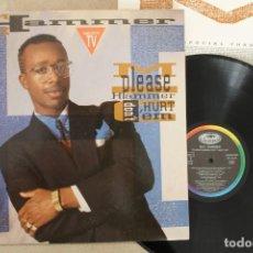 Discos de vinilo: M.C. HAMMER PLEASE HAMMER DON'T HURT EM LP CON INSERT. Lote 68756465