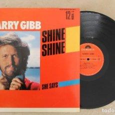 Discos de vinilo: BARRY GIBB SHINE SHINE MAXI SINGLE VINILO. Lote 68763221