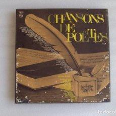 Discos de vinilo: CHANSONS DE POËTES, CAJA CON 4 LPS Y LIBRO. EDICION FRANCESA 1966 PHILIPS. Lote 68811825