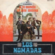 Discos de vinilo: NOMADAS, SG, SI TE PROMETO + 1, AÑO 1969. Lote 68829989
