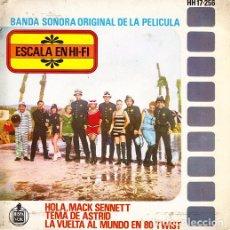 Discos de vinilo: ESCALA EN HI FI - HOLA MACK SENNETT - EP RARISIMO DE VINILO - WALDO DE LOS RIOS. Lote 259709605