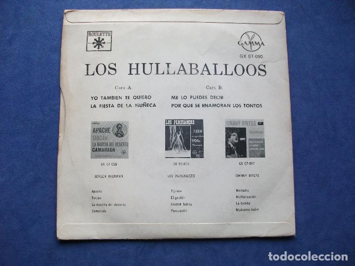 Discos de vinilo: LOS HULLABALLOOS LA FIESTA DE LA MUÑECA + 3 EP MEJICO 1965 PDELUXE - Foto 2 - 68870793