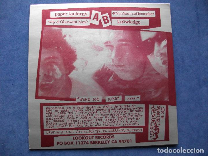 Discos de vinilo: GREEN DAY PAPER LANTERNS + 3 EP USA 1990 PDELUXE - Foto 2 - 68876337