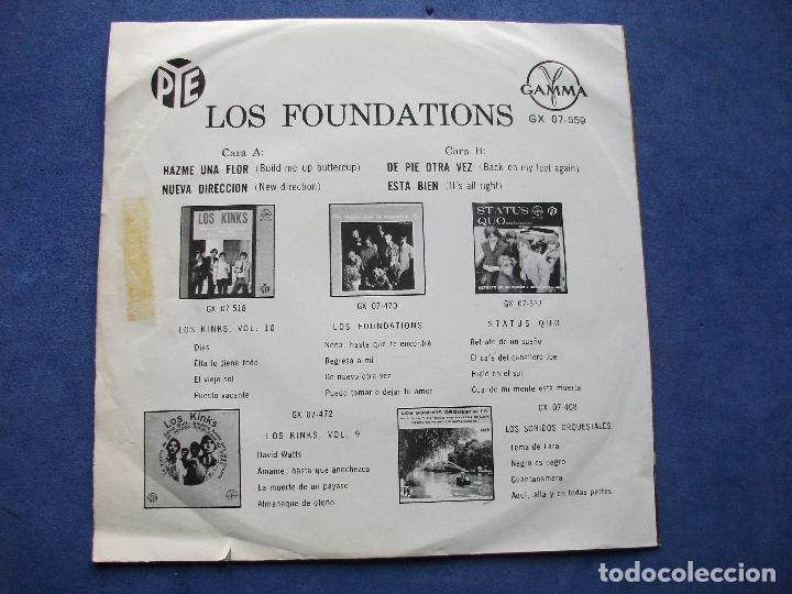 Discos de vinilo: THE FOUNDATIONS HAZME UNA FLOR + 3 EP MEJICO PDELUXE - Foto 2 - 68877009