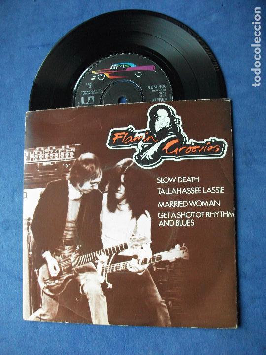 FLAMIN GROOVIES SLOW DEATH + 3 EP UK 1972 PDELUXE (Música - Discos de Vinilo - EPs - Pop - Rock Extranjero de los 70)
