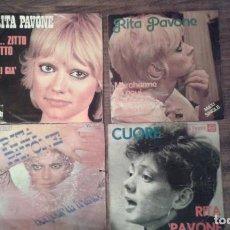 Discos de vinilo: LOTE DE 4 DISCOS DE VINILO DE RITA PAVONES. Lote 68921117