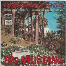 Discos de vinilo: LOS MUSTANG / YO QUE NO VIVO SIN TI + 3 (EP 1965). Lote 68921125