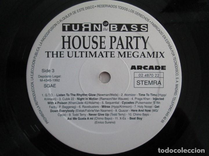 Discos de vinilo: TURN UP THE BASS. HOUSE PARTY. THE ULTIMATE MEGAMIX. DOS VINILOS. ARCADE. VER FOTOGRAFIAS ADJUNTAS - Foto 8 - 68944573