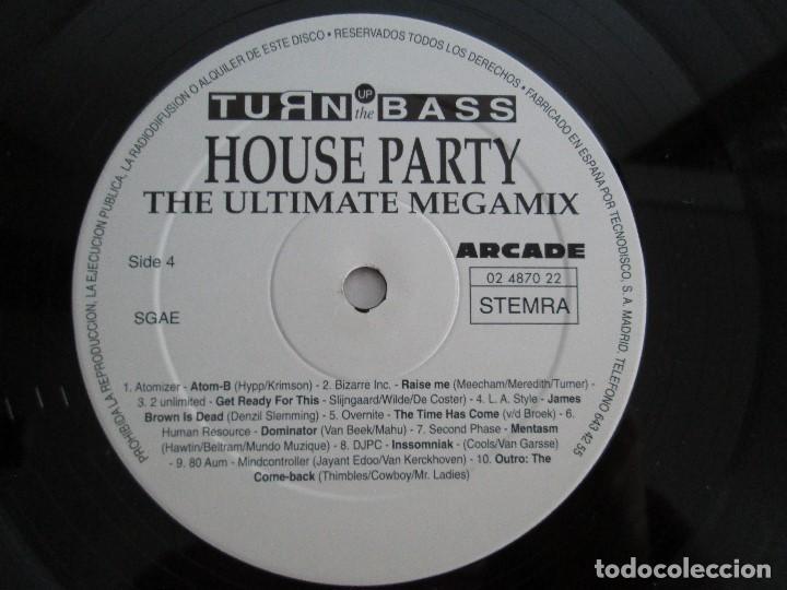 Discos de vinilo: TURN UP THE BASS. HOUSE PARTY. THE ULTIMATE MEGAMIX. DOS VINILOS. ARCADE. VER FOTOGRAFIAS ADJUNTAS - Foto 10 - 68944573
