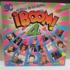 Discos de vinilo: EL DISCO DE LOS EXITOS BOOM 4 MAS DE DOS HORAS DE LA MEJOR MUSICA BUEN ESTADO VER FOTOS. Lote 68947617