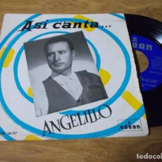 Disques de vinyle: ASÍ CANTA ANGELILLO, PACO EL MINERO, MI JACA, CHICLANERA, COMO AQUELLA MAGDALENA.. Lote 68964025