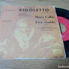 Discos de vinilo: VERDI, RIGOLETTO. MARIA CALLAS, TITO GOBBI.. Lote 68971165