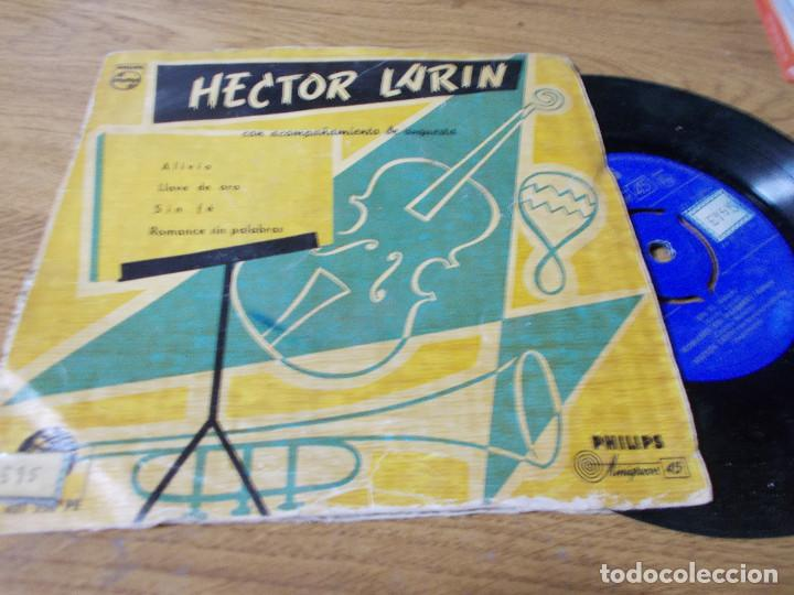 HECTOR LARIN. ALIVIO, LLAVE DE ORO. SIN FÉ, ROMANCE SIN PALABRA. (Música - Discos de Vinilo - EPs - Orquestas)
