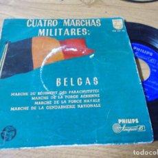 Discos de vinilo: 4 MARCHAS MILITARES BELGAS. Lote 68972193